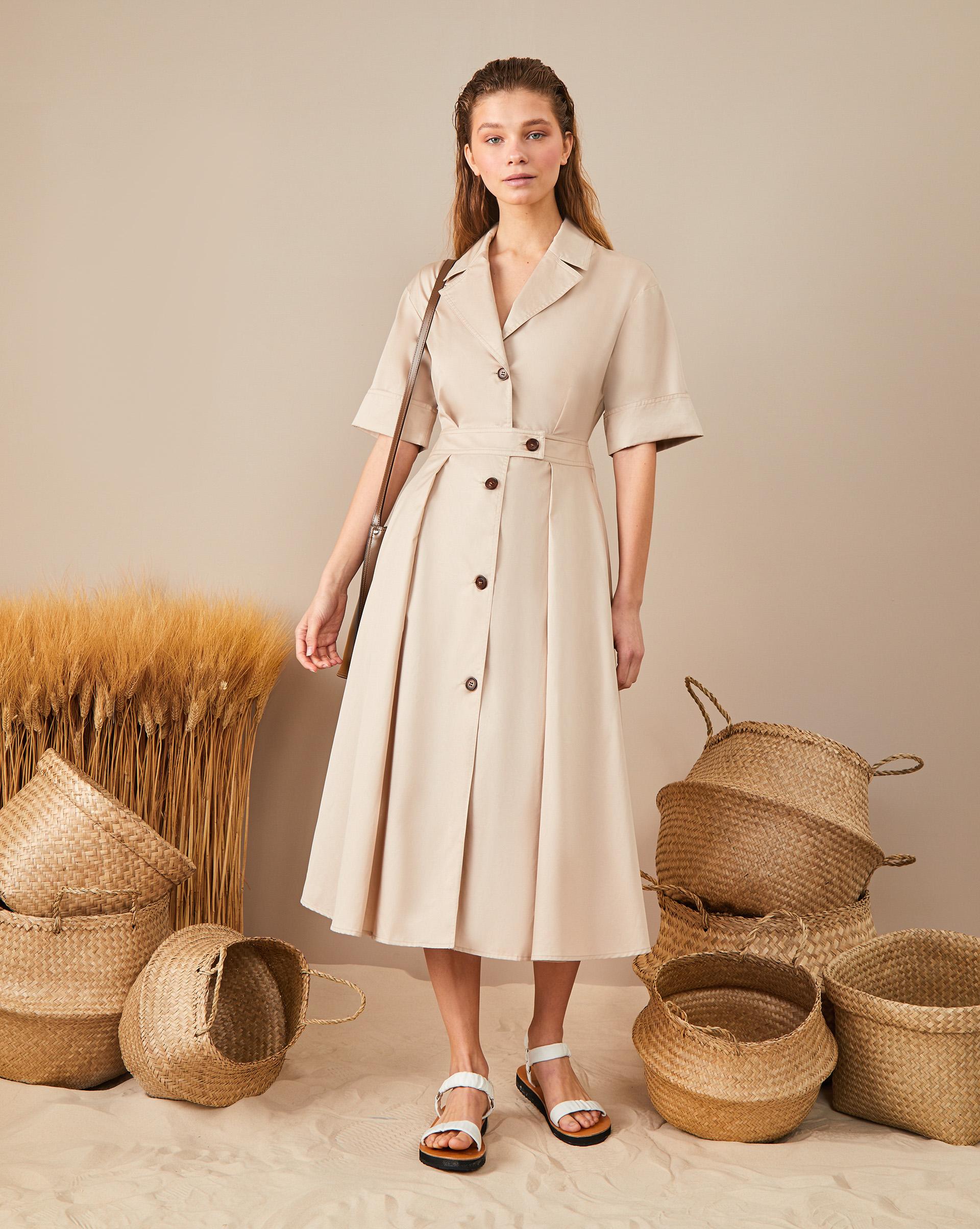 12STOREEZ Платье на пуговицах приталенное платье с застежкой на молнию петербургский швейный дом